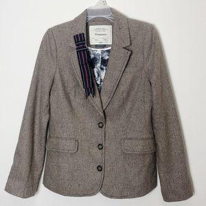 Anthropologie Cartonnier Metallic Wool Blazer